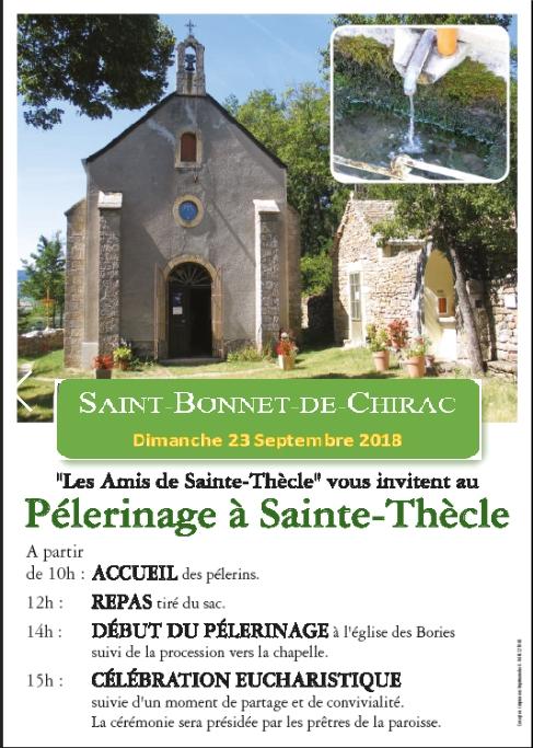 Affiche du pèlerinage de Septembre 2018