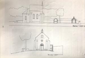 Dessin de la chapelle Sainte Thècle