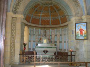 L'intérieur de la chapelle