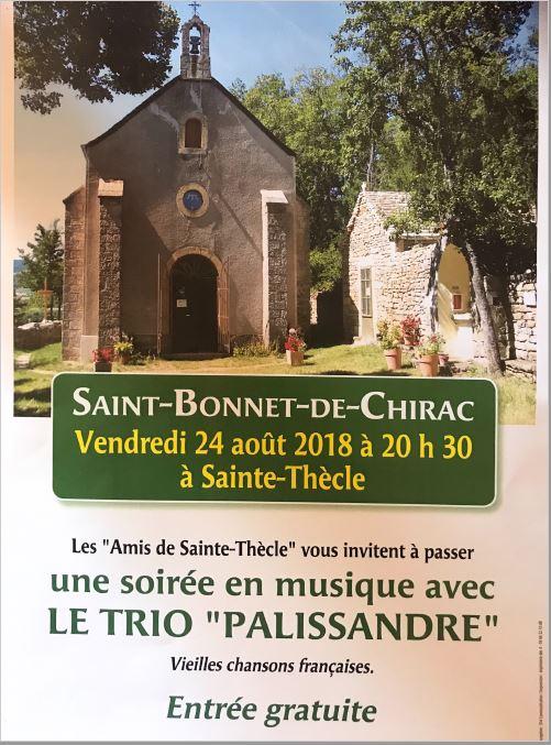 Saint Thècle concert 24 aout